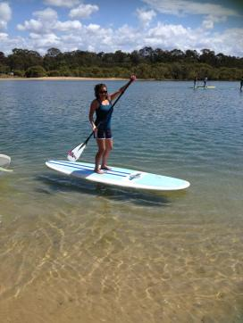 How AWESOME am I?? I LOVE stand-up paddle!