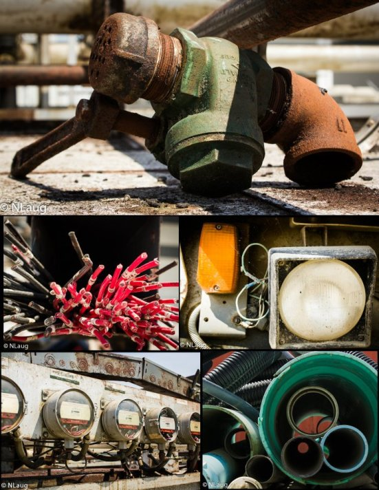 industrial objects collage