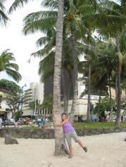 Palm Tree Hugger!