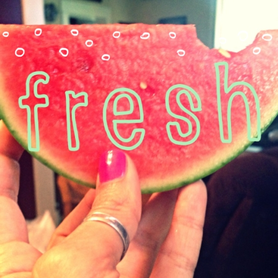 MMMmmm...Fresh Watermelon! Can't get more summer than that!
