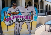 Monty & getting juiced at Bondi Beach