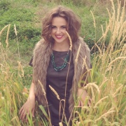 We had to do a tall grass & faux fur vest - to pay homage to last year's shoot!