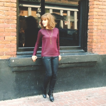 The beautiful Sydney Doberstein striking a pose for our gastown Urban look!